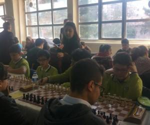 Çamlıca Ortaokulu satranç turnuvasında 4. oldu