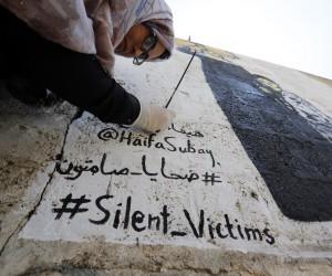 Yemenli sanatçı savaş kurbanlarını duvarlara resmediyor