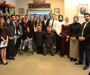 Yalçın Topçu, Gazi Üniversitesi öğrencilerini kabul etti