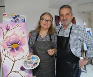 Saygı çifti Efeler Belediyesi ile sanata gönül verdi