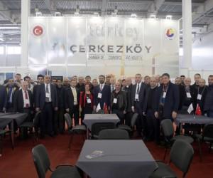 Çerkezköy TSO, Ukrayna'da fuar açılışı yaptı
