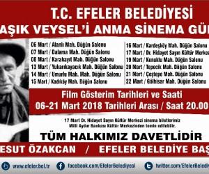 Efeler Belediyesi Aşık Veysel'i sinema günleri ile anacak
