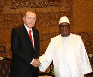 Cumhurbaşkanı Erdoğan, Mali Cumhurbaşkanı İbrahim Boubacar Keita ile görüştü
