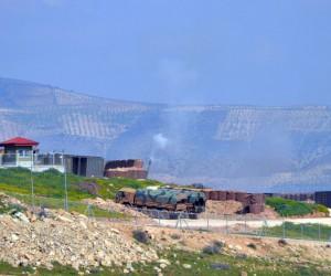 Raco Dağı'nın etekleri yoğun bombardımana tutuldu