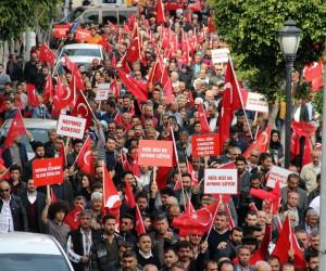 Alanya'da binlerce kişi Afrin'e destek için yürüdü