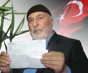 Emekli gurbetçi, bir aylık maaşını Kahraman Mehmetçik için bağışladı