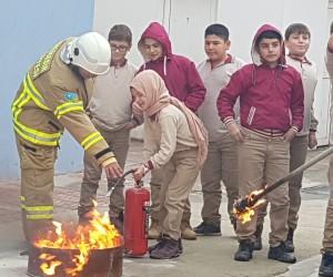 Balya İmam Hatip Ortaokulu'nda sivil savunma tatbikatı