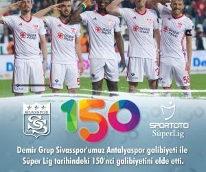 Sivasspor, Süper Lig'de 150. galibiyetini aldı