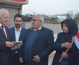 KKTC heyetinden Afrin şehidinin ailesine ziyaret
