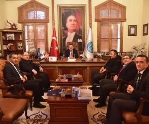 İl Müdürü Bolat'dan Başkan Yağcı'ya veda ziyareti