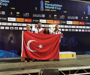 Modern Pentatlon Milli Takımı Mısır'daki Dünya Kupasında büyük başarıya imza attı