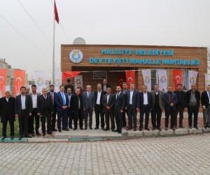 Haliliye Belediyesi muhtar evi projesi yapımı tamamlanan, Muhtarlığın açılışını gerçekleştirdi