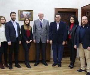 Yeni Mimarlar Odası yöneticilerinden Başkan Kurt'a ziyaret