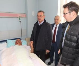 Başkan Köşker'den taziye ve moral ziyareti