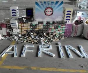 Kargo eşyası taşıyan tırdan binlerce paket kaçak sigara çıktı