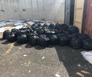 Mobilya malzemesi içerisinde 32 bin paket kaçak sigara bulundu