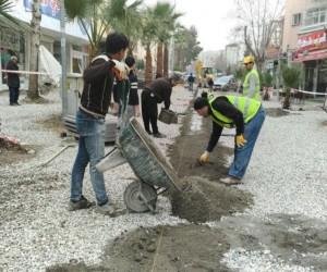Filistin Caddesinde düzenleme çalışmaları