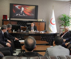 Başkan Turgut'tan Müdür Akdoğan'a ziyaret