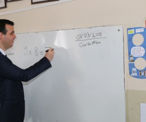 Kaymakam Vardar'dan okul ziyareti