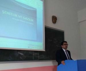 Pazarlar'da 'Şehitlik ve Gazilik' konulu konferans