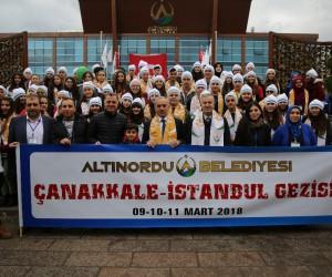 Altınordu Belediyesi öğrencileri Çanakkale'ye gönderdi