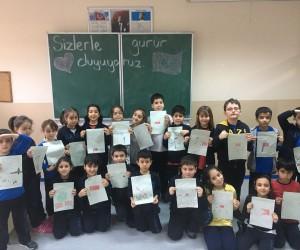Gazili öğrencilerden Mehmetçiğe duygu yüklü mektuplar