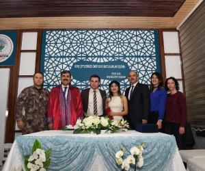 Başkan Asya nikah kıydı, Emniyet Müdürü Aktaş şahitlik yaptı
