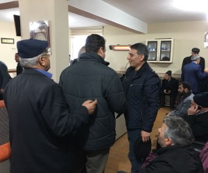 Kaymakam Özkan'dan şehit korucunun ailesine taziye ziyareti