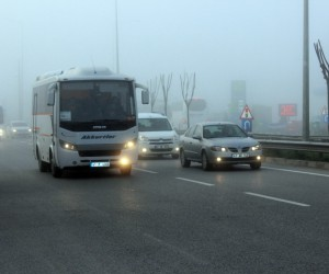Kocaeli'nin yüksek kesimleri sis etkili oluyor