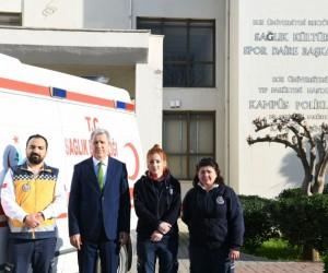 Ege Üniversitesinde 112 ambulans istasyonu hizmete girdi