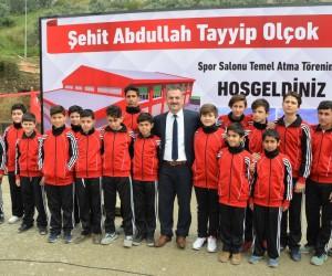 Şehit Abdullah Tayyip Olçok Spor Salonu'nun temeli atıldı