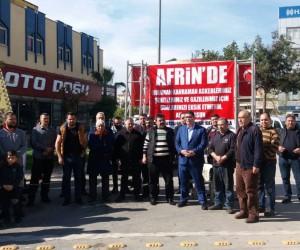 Sanayi sitesi esnafından Afrin şehitleri için tatlı