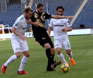 Spor Toto Süper Lig: Osmanlıspor: 2 - Bursaspor: 0 (İlk yarı)