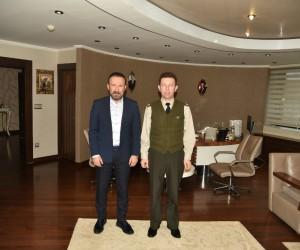 Başkan Doğan, Binbaşı Karagöz'ü ağırladı