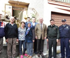 Kaymakam Yaman ve Başkan Bakıcı gazi ve şehit ailesini ziyaret etti