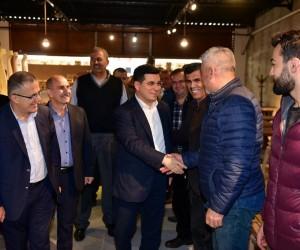 Tütüncü,Akdeniz Sanayi Sitesi esnafı ile bir araya geldi