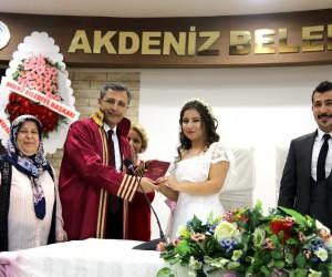 Başkan Pamuk, Afrin gazisinin nikahını kıydı