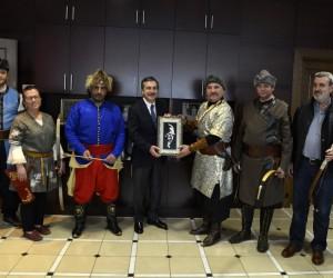 Sultan  Ata Sporları Derneği'nden Ataç'a ziyaret