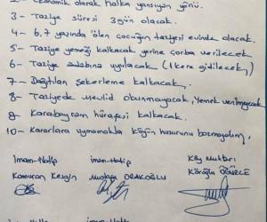 Ağrı'da köylülerden taziye anayasası