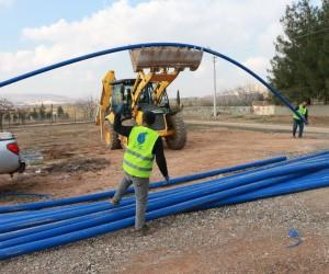 Şanlıurfa'da alt yapı çalışmaları sürüyor