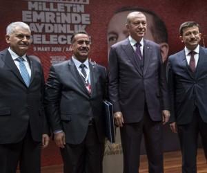 Cumhurbaşkanı Erdoğan'dan Güzel'e Türkiye birinciliği ödülü