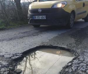 Alaplı'da köy yolları sürücülerin tepkisini çekiyor