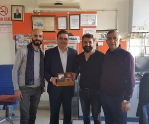 Başkan Yalçın'dan çömlek ustası Yalçın'a ziyaret