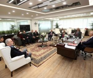 Başkan Yaşar, hemşehrilerini ağırladı
