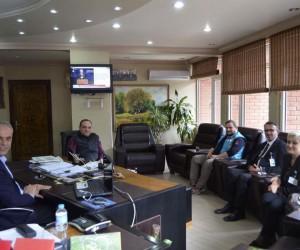 Başkan Yaman, Başhekim Özyaşar ile bir araya geldi