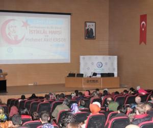 Bayburt'ta İstiklal Marşı ve Mehmet Akif Ersoy'u anlatan konferans düzenlendi
