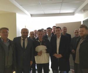 Başkan Bakıcı ve Ömer Döngeloğlu'ndan hasta ziyareti