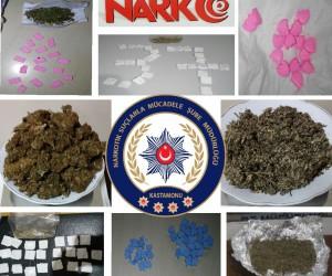 Kastamonu'da uyuşturucu tacirlerine büyük darbe