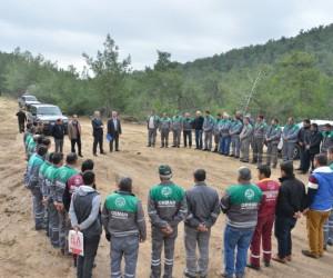 Orman Bölgede iş makineleri operatörlerine eğitim