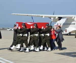 Afrin şehidinin naaşı Ordu'ya getirildi